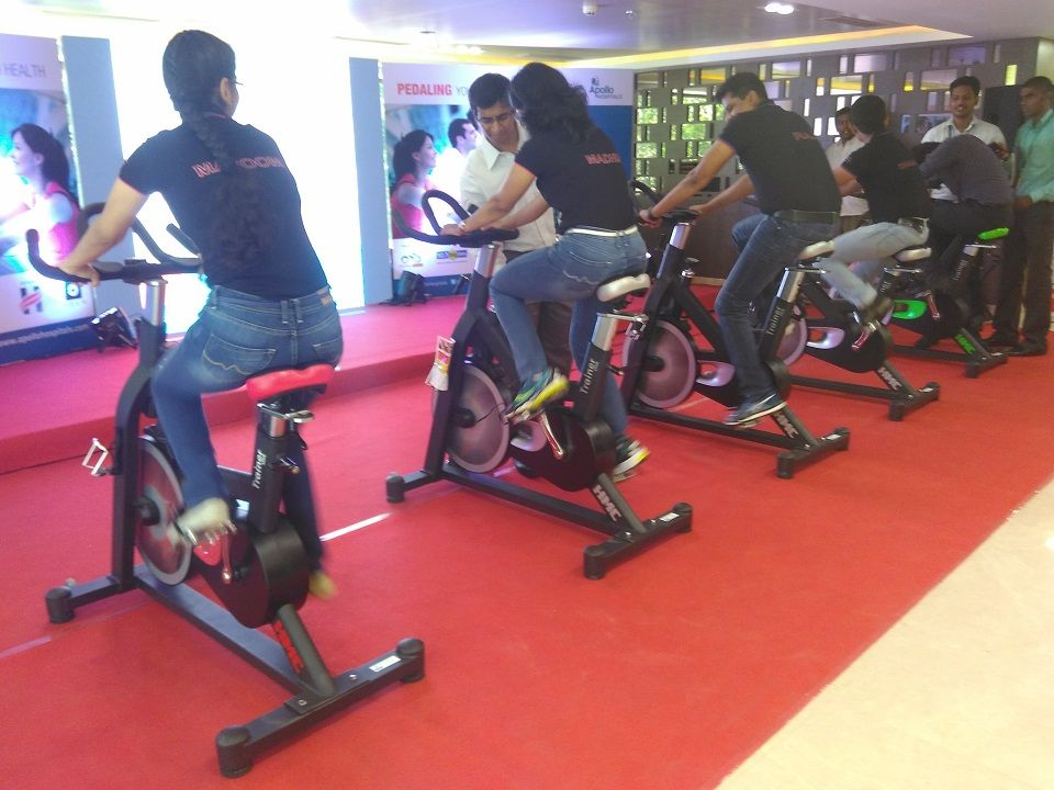 Apollo Hospitals Studio Cycling Event for World Health Day