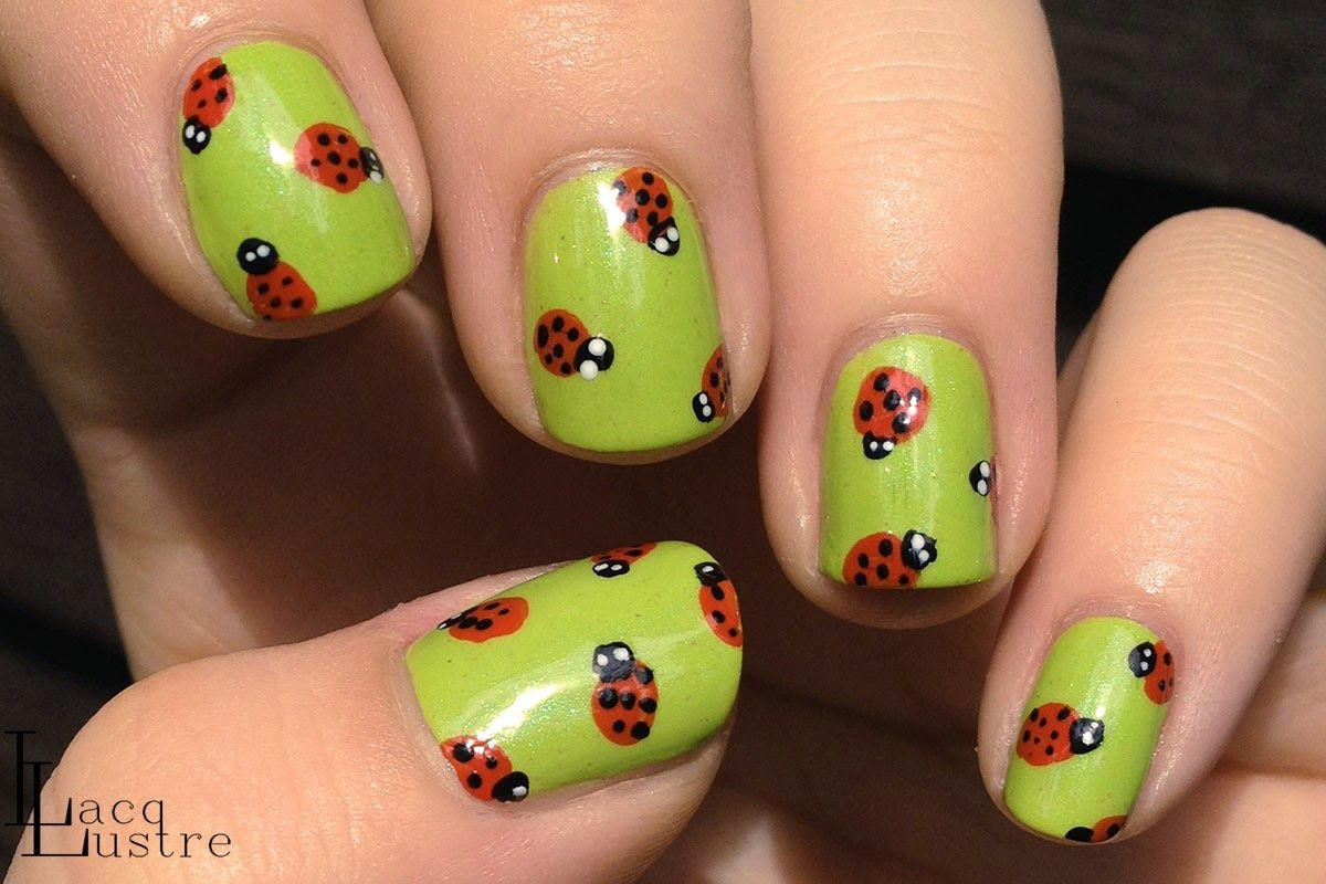 Sinful Colors Curry Up Lady Bug Nail Art Addicted To Nail Polish