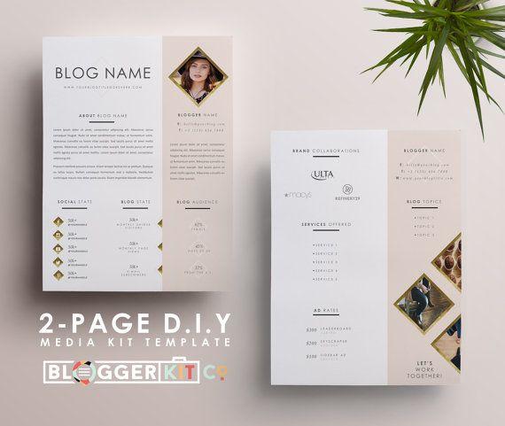 Two-Page Media Kit Template Press Kit Template Electronic Press