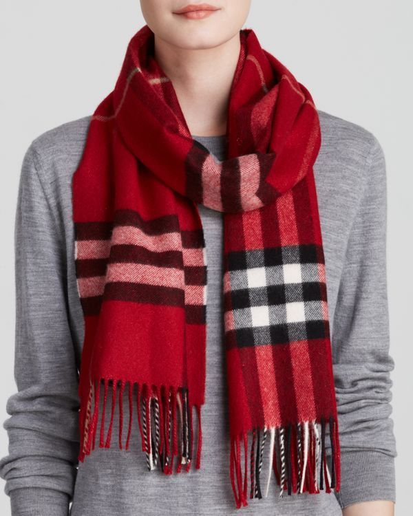 ab9c39628e Burberry Metallic Giant Check Cashmere Scarf   Products   Pinterest