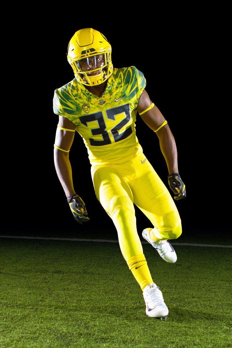 University Of Oregon Ducks All Yellow Alternative Football Uniform For 2017