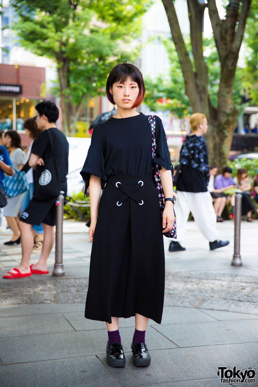286b53e3738 Harajuku Girl in Minimalist Fashion w  Toga Pulla