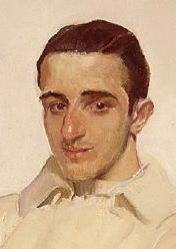 """Joaquín Sorolla y García Sentado 1918 """"Portrait of José Luis Benlliuri de Arena"""", (detail)."""