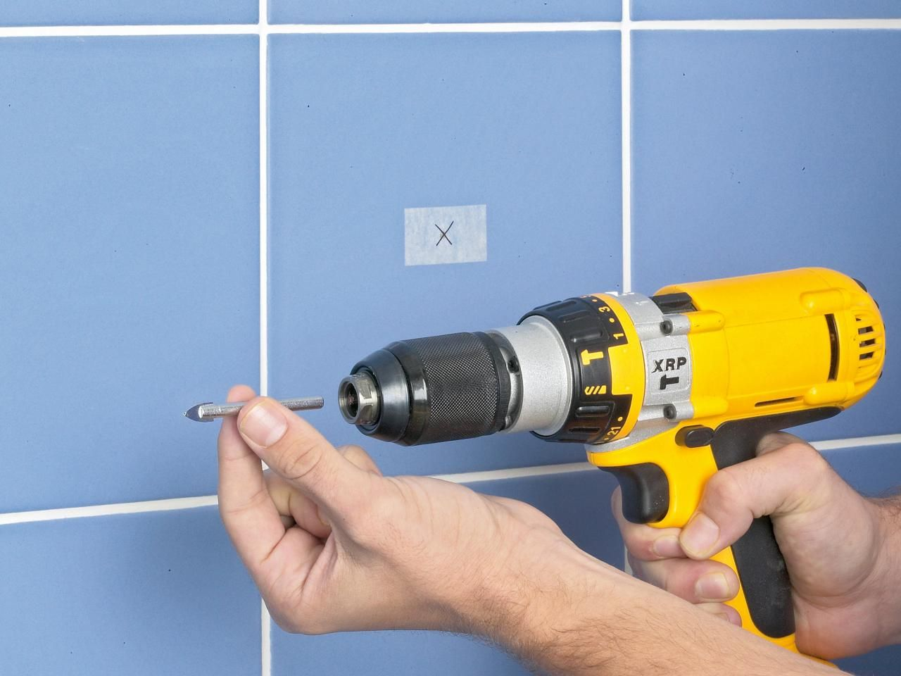 how to drill through tile without breaking it