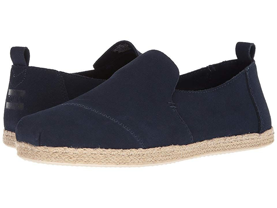 TOMS Deconstructed Alpargata Rope Navy Suede Mens Slip on Shoes With every pair of shoes you purchase TOMS will give a new pair of shoes to a child in need One for One Th...