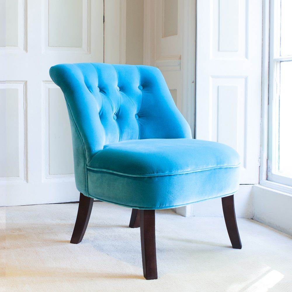 VELVET Occasional Tub Chair in Turquoise By Cuckooland | Homes and ...