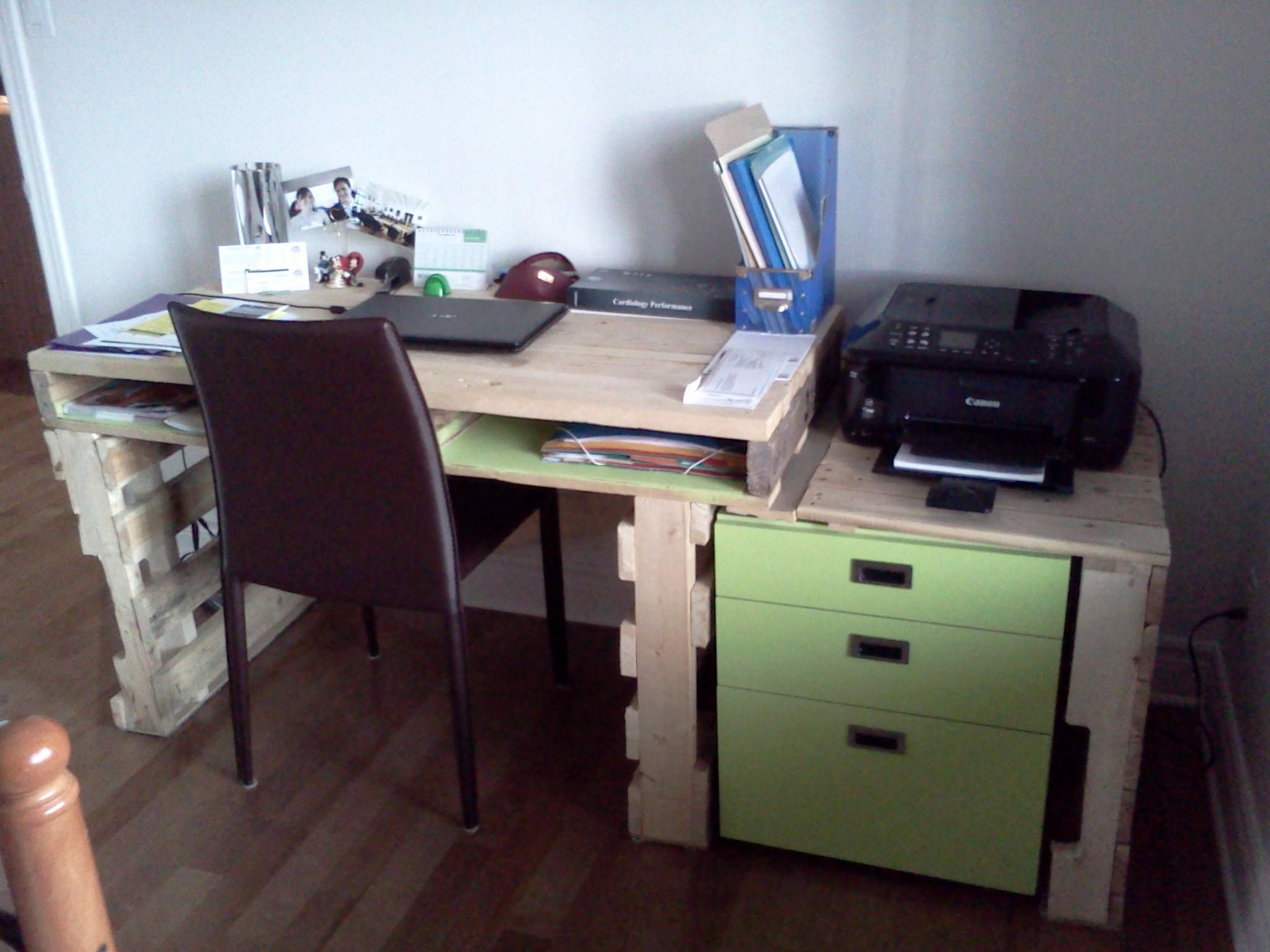 office desk europalets endsdiy. Bureau Pour La Maison / House Writing Desk Office Europalets Endsdiy D