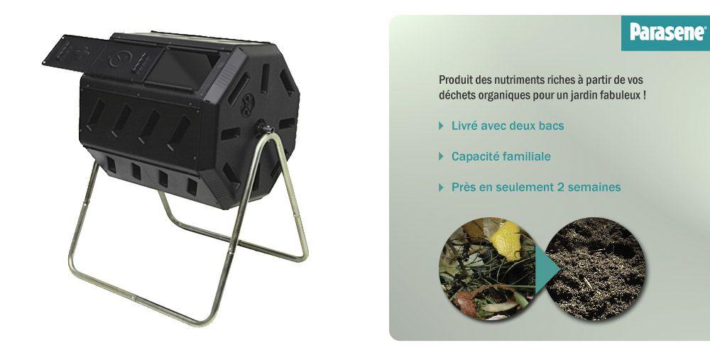 composteur rotatif 140l parasene composteur rotatif. Black Bedroom Furniture Sets. Home Design Ideas