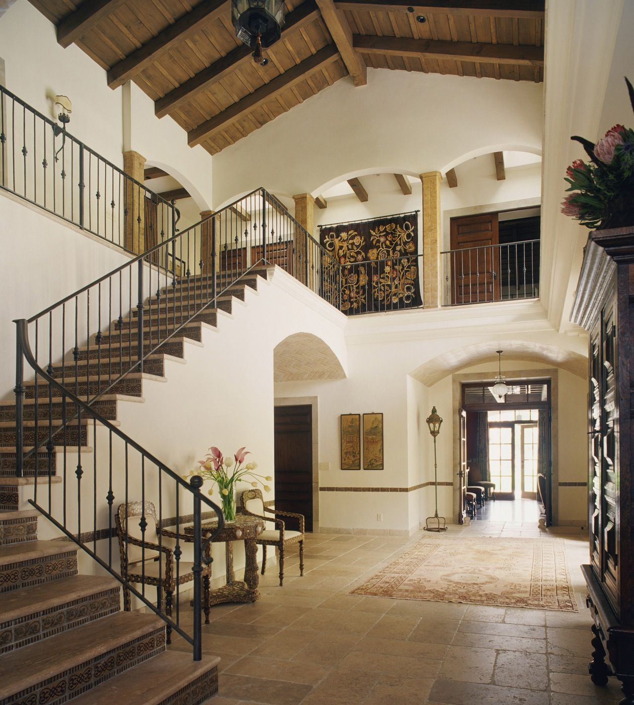 Entry spanish colonial with moroccan details designed by for Mediterranean style homes interior