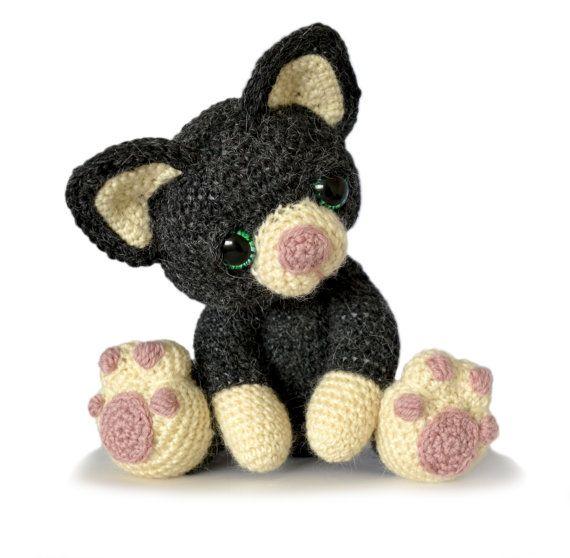 Gatito gato Amigurumi Crochet patrón PDF por PatchworkMoose en Etsy ...