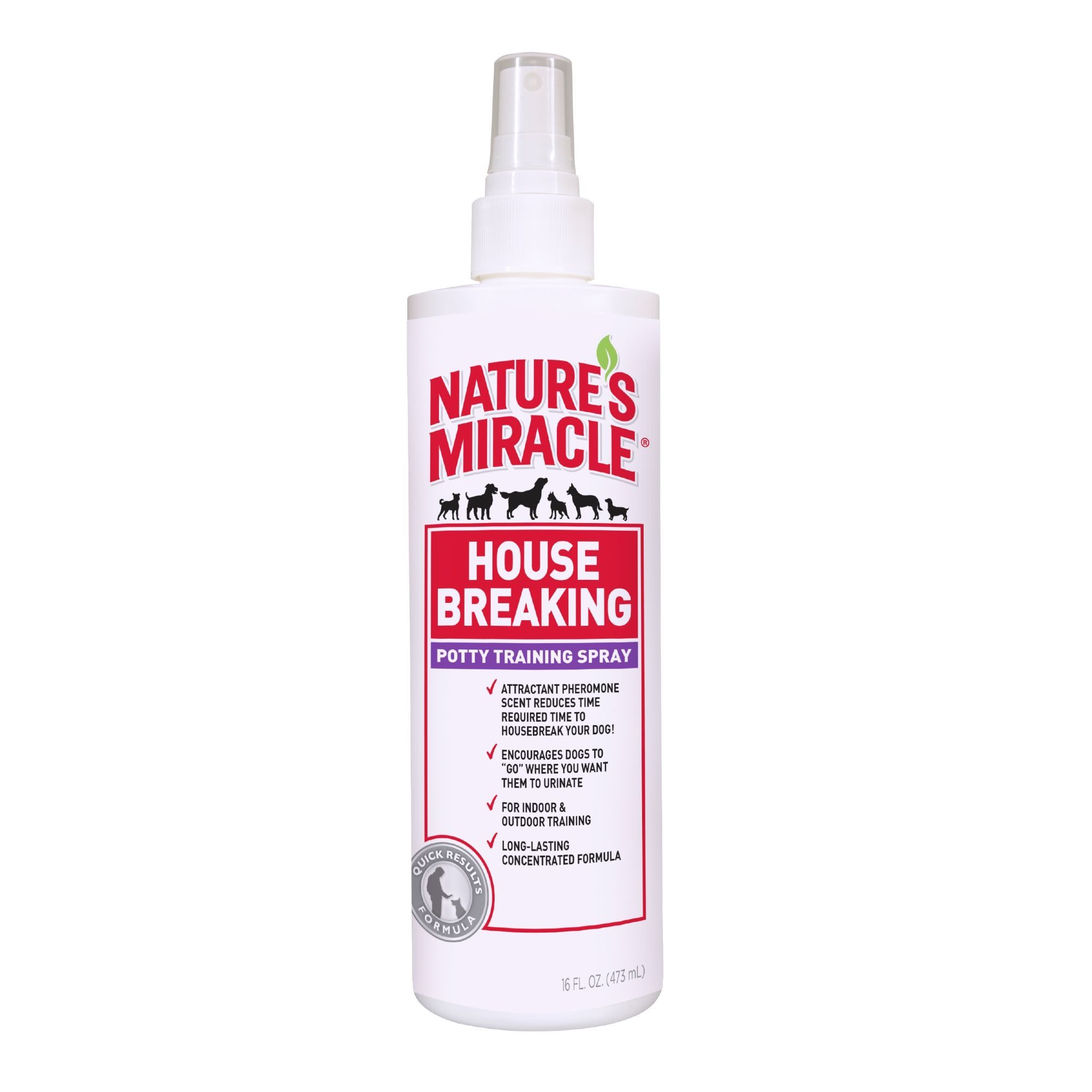 Nature S Miracle House Breaking Potty Training Spray Quick Results Formula For Dogs 16 Fl Oz Petco In 2020 Cat Repellant Nature S Miracle Natural Repellent
