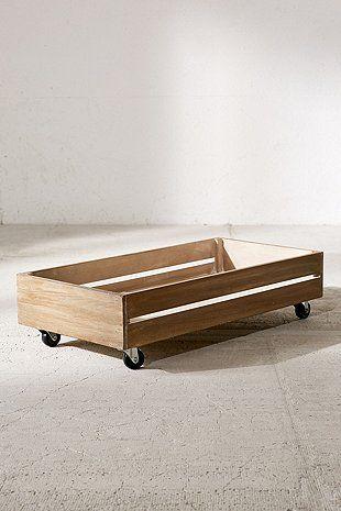 bo te de rangement sur roulette glisser sous le lit. Black Bedroom Furniture Sets. Home Design Ideas