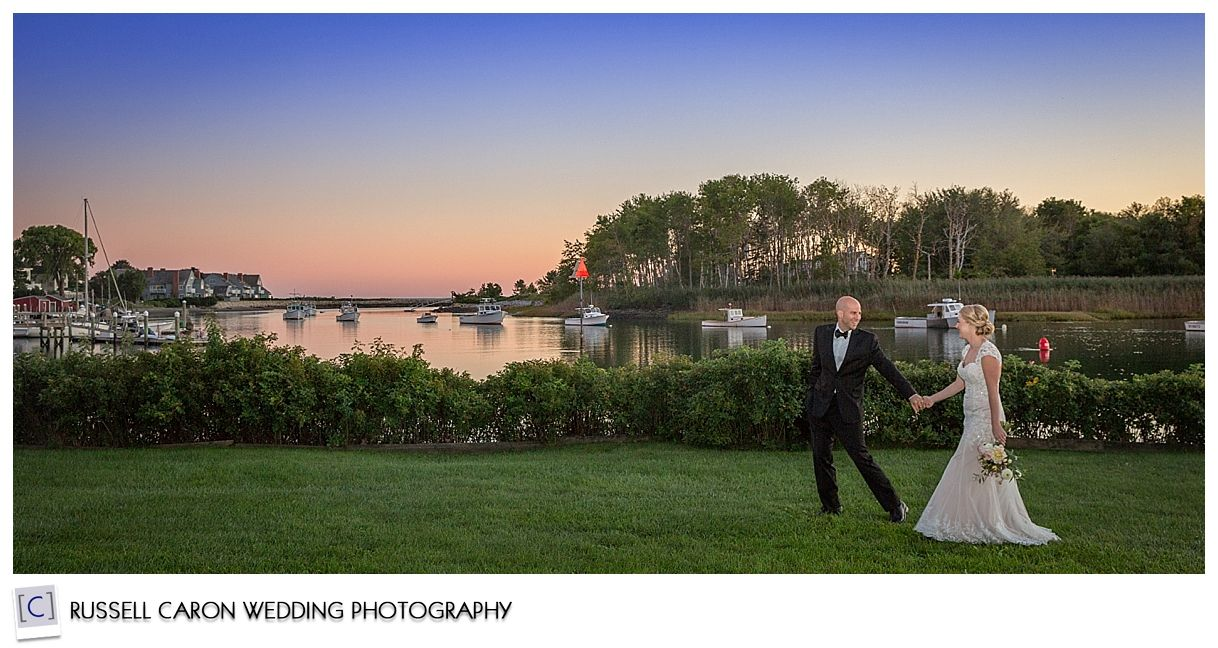 Ariel And Kevin During Sunset At Their Nonantum Resort Wedding Kennebunkport Maine