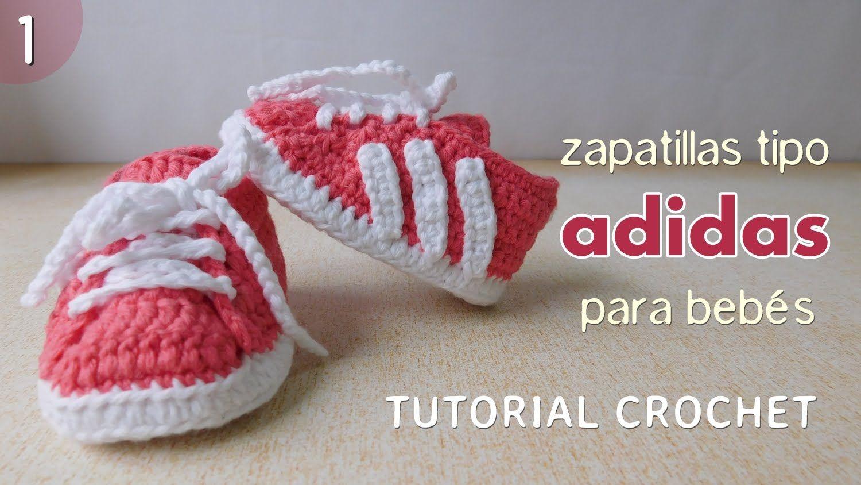 Zapatillas Adidas A Crochet Para Beb 233 Parte 1 De 2