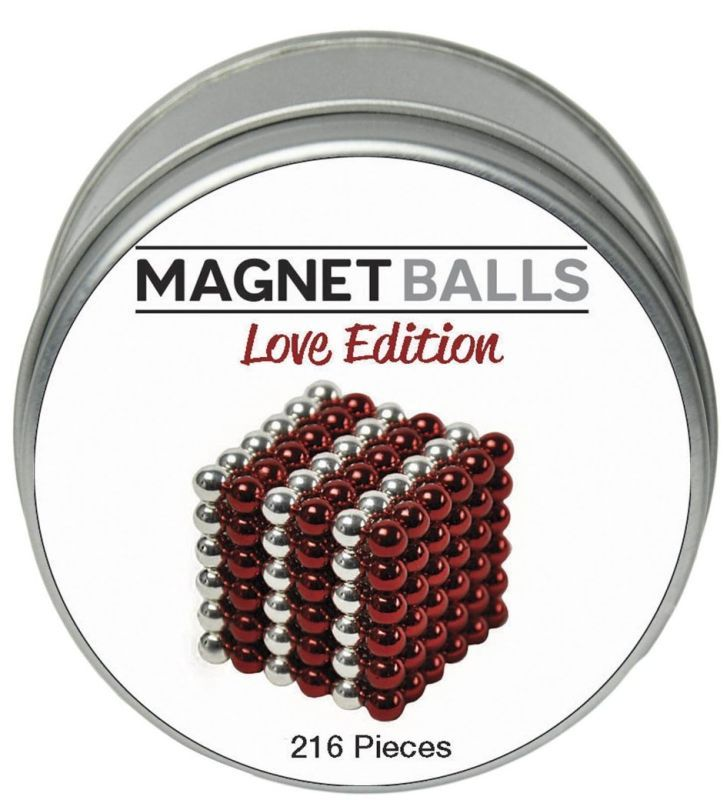 Magnet Balls Love Edition – Whether for valentines day, or that special occasion, nothing says you care like this limited edition Love Tin of Magnet Balls.
