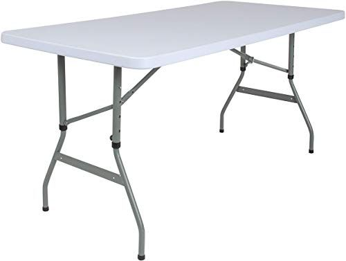 Shop For Flash Furniture 5 Foot Height Adjustable Granite White Plastic Folding Table Online In 2020 With Images Flash Furniture Folding Table Furniture