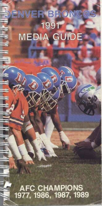 1991 Denver Broncos media guide