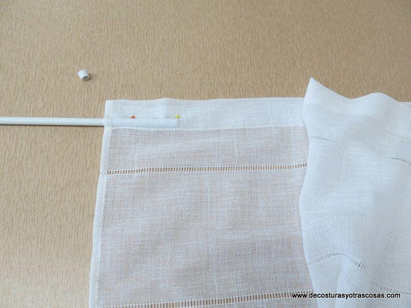 Visillo para ventana peque a manualidades pinterest - Como hacer cortinas para puertas ...