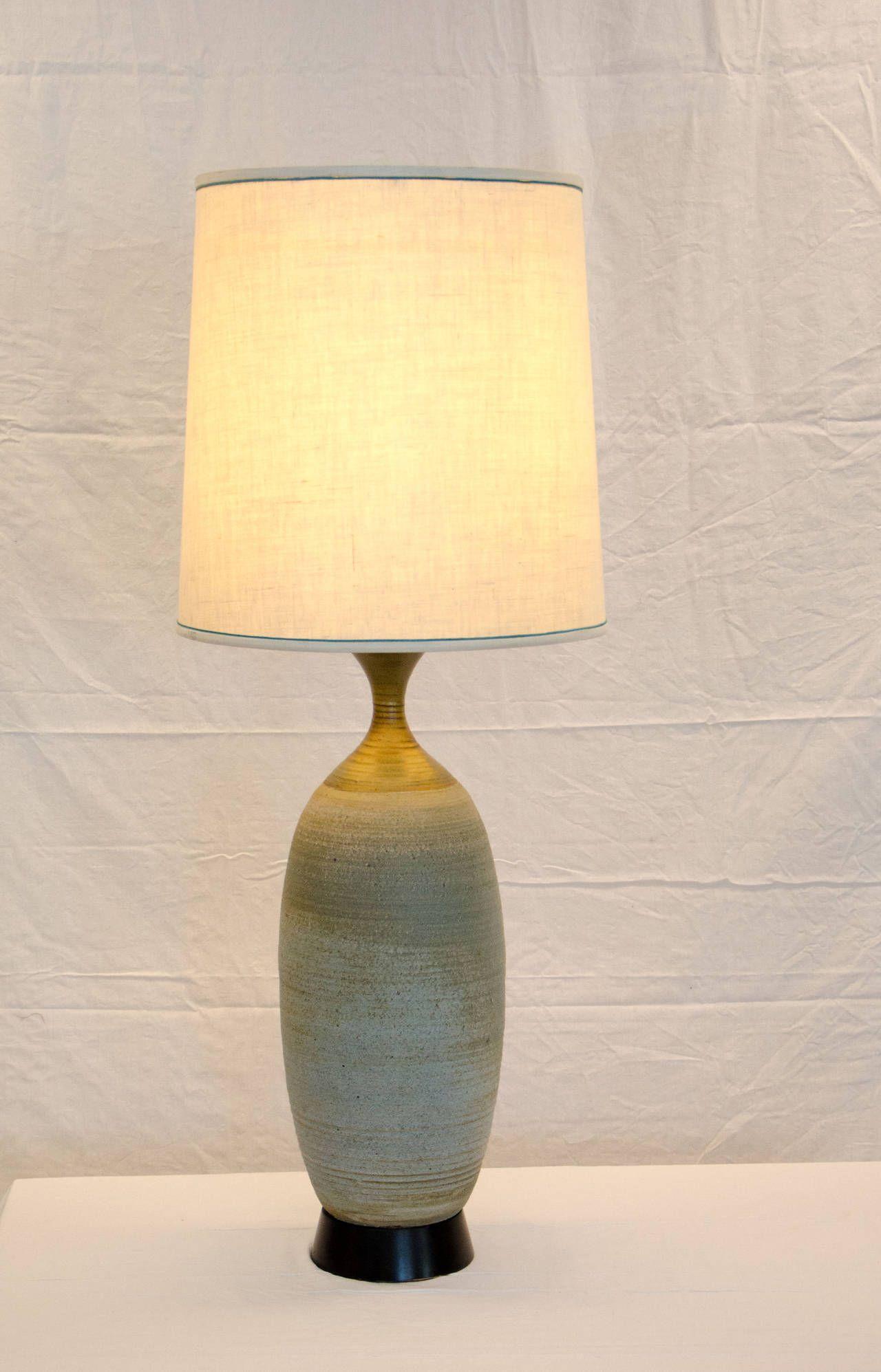 Mid Century Studio Pottery Table Lamp By Bob Kinzie Ceramic LampsModern