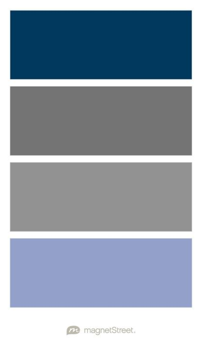 Navy Charcoal Clic Gray And Periwinkle Wedding Color Palette Custom