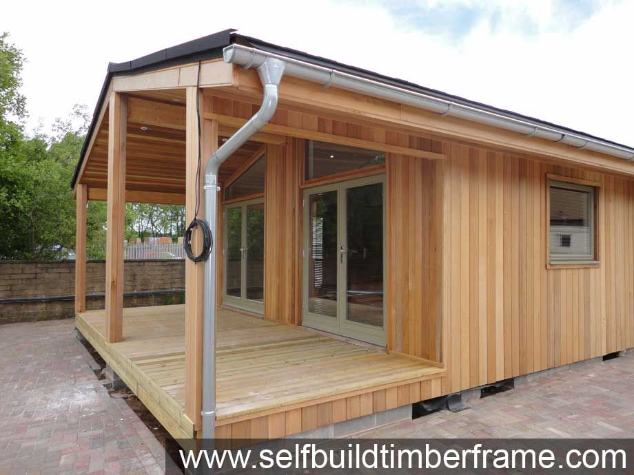 Example Build Cedar Mobile Home Log Cabins Self Build Timber