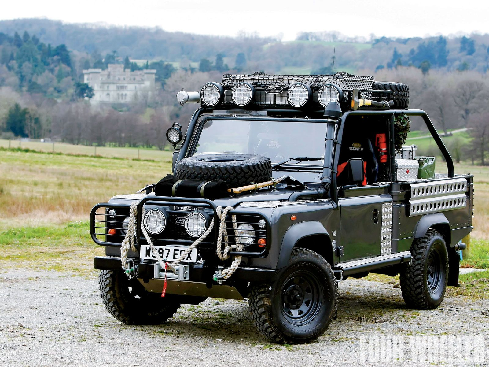 certificate in off matching landrover complete diesel lhd s sale fully body day and restoration hand it with numbers low a blue defender for restored drive marine heritage is lr rear rover finished left land tdi truck