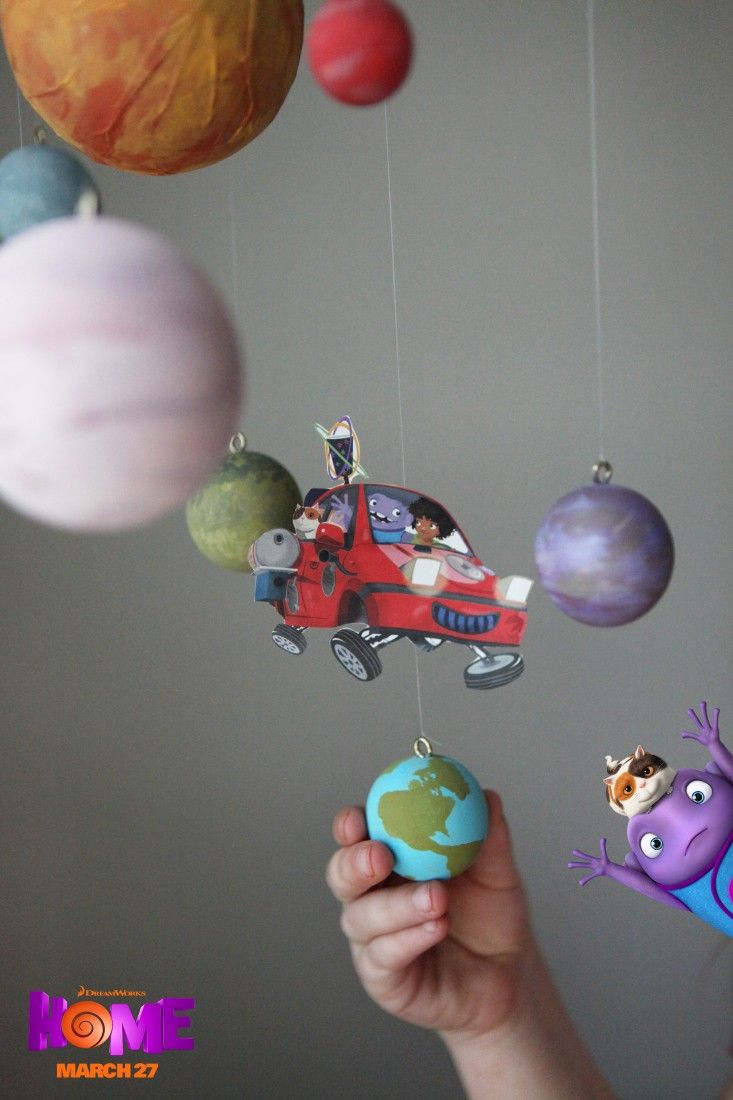 DIY space mobile with Oh navigating the planets! Sponsored by ...
