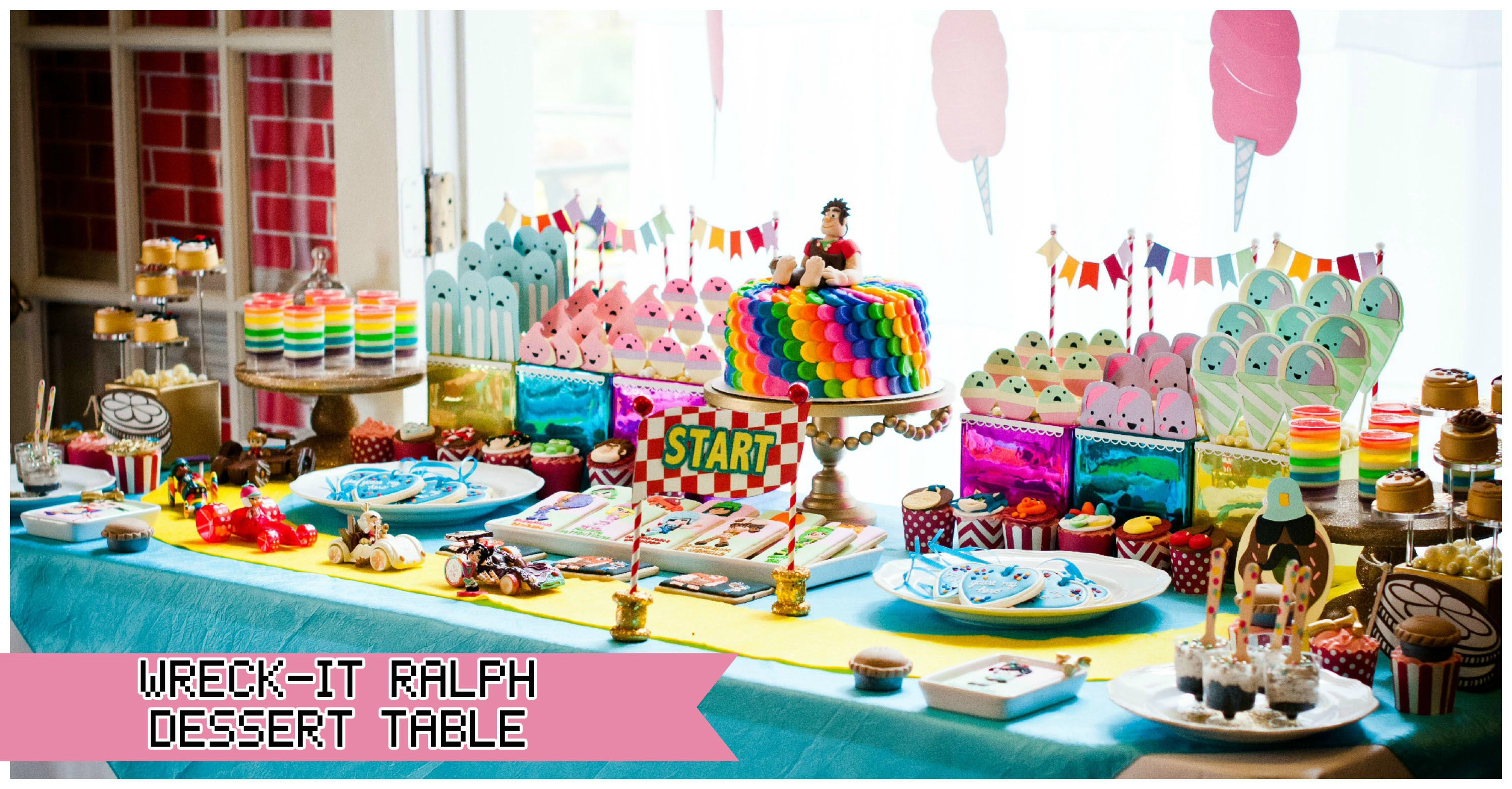 Vanellope Bday Party Candy Theme Birthday Party Rush Party