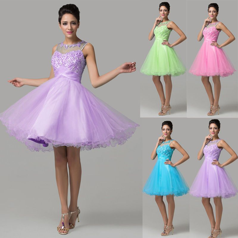 38bdc2f2ae3 HOT Short Mini Prom Party Evening dress Homecoming bridesmaid Graduation  Dresses  GraceKarin  BallGown  Cocktail