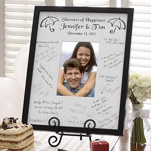 showers of happiness signature mat frame a great bridal shower keepsake personalized with the