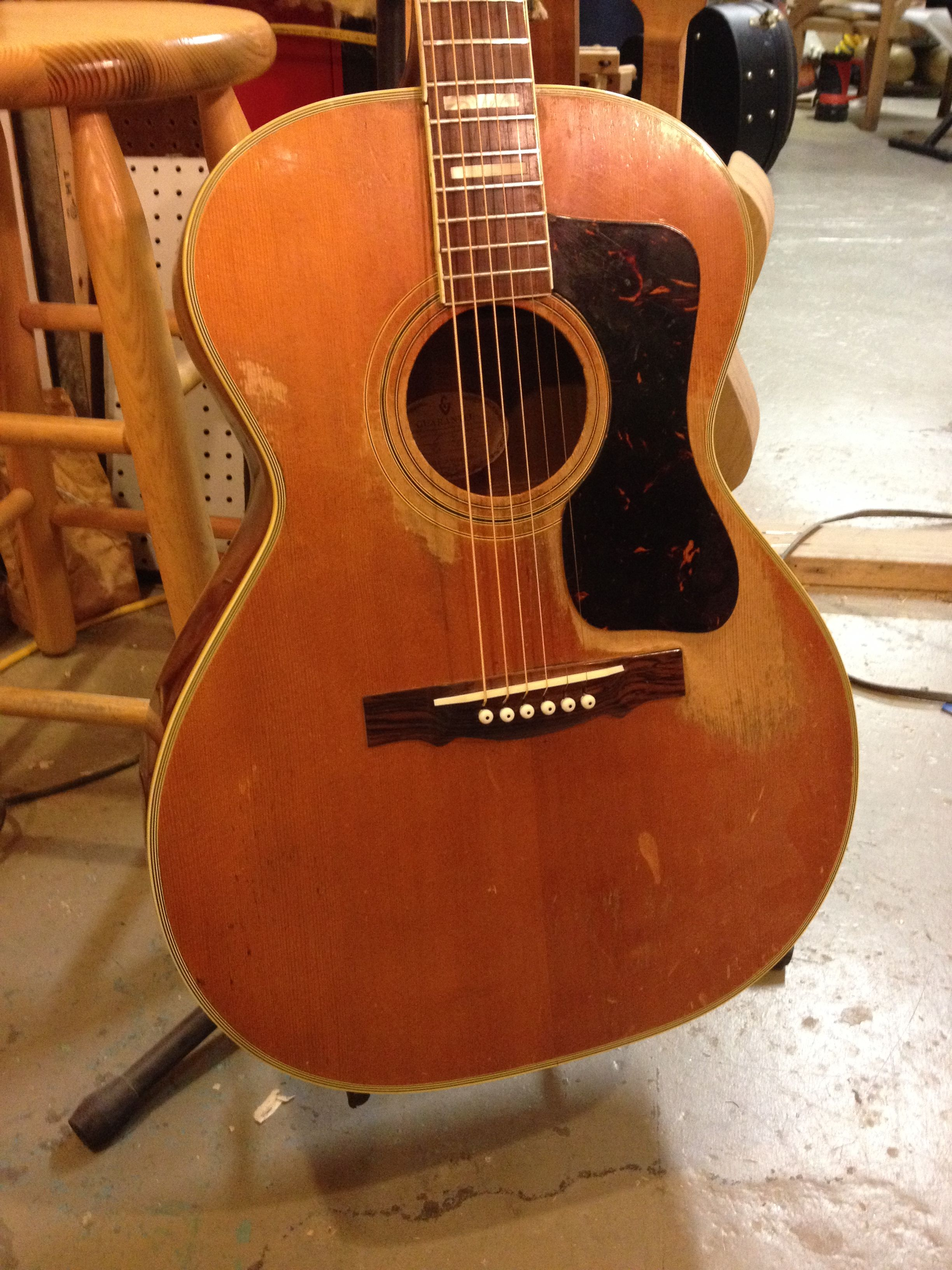 one of the great vintage guitars that come through our repair shop 1967 guild vintage. Black Bedroom Furniture Sets. Home Design Ideas