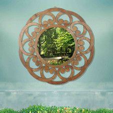 Recycled Fir Wood Wide Border Wall Mirror