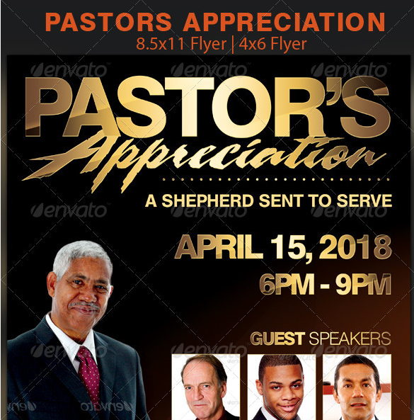 Pastor Church Anniversary Flyer Template