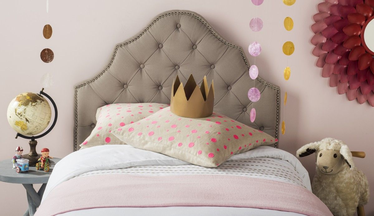 Arebelle taupe tufted headboard headboards furniture by tufted