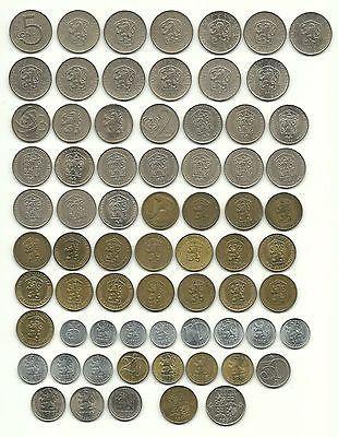 Tschechoslowakeicssrcsfrmünzen Lot 1962 1991verschiedene