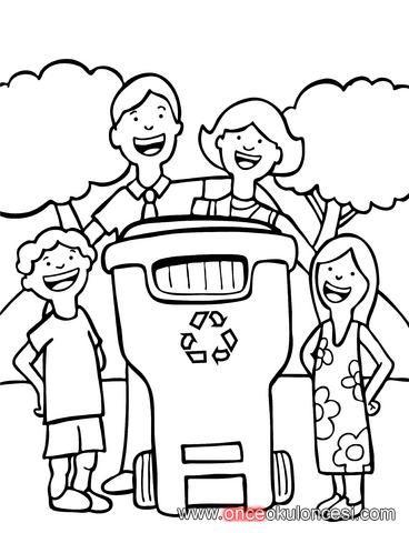 Temiz çevre Temiz Dünya Geridönüşüm Boyamaları önce Okul öncesi