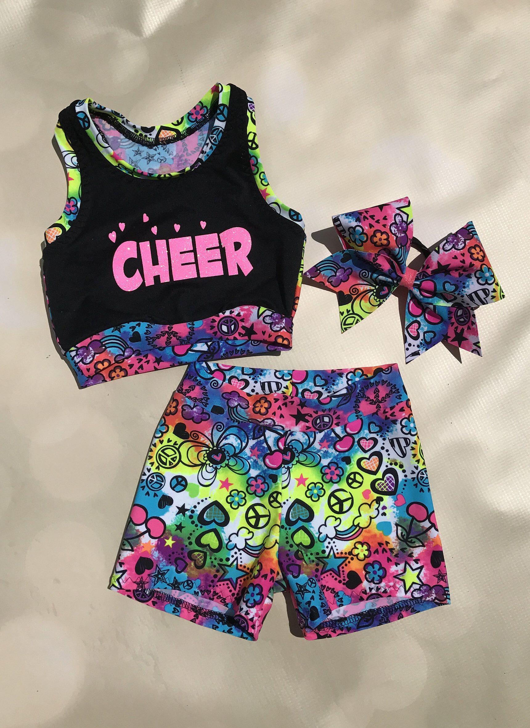 Dance Chevron Short Set,Cheer Chevron Short Set,Dancewear,Cheer Wear,Dance Outfit,Cheer Outfit,Activewear,Cheer Top,Dance Top,Dance Set