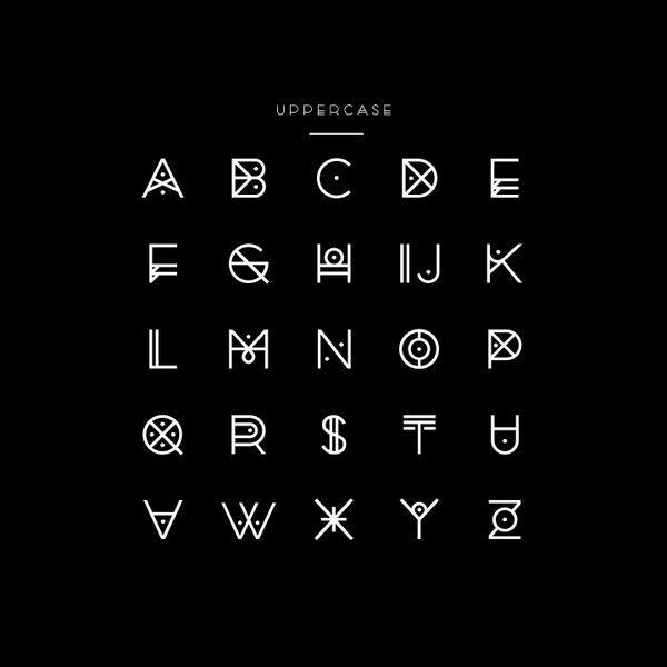 A really unique font design. I love how the artist manages to ...