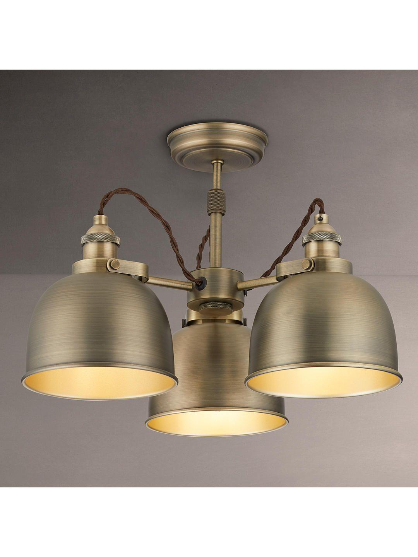 John Lewis Partners Baldwin Semi Flush 3 Arm Ceiling Light