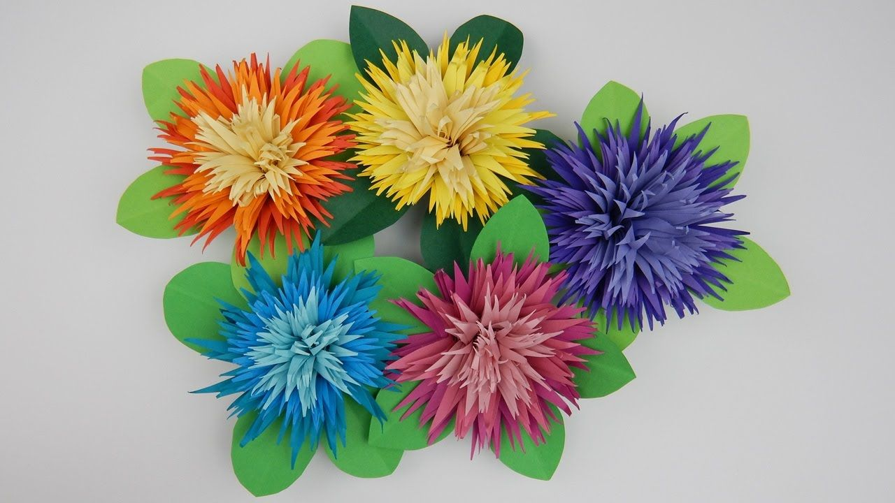 Quilling Table Decoration Asters Flowers 1 Diy Paper Craft