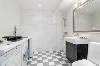 Studio karin tvÄttstugan badrummet bathroom in
