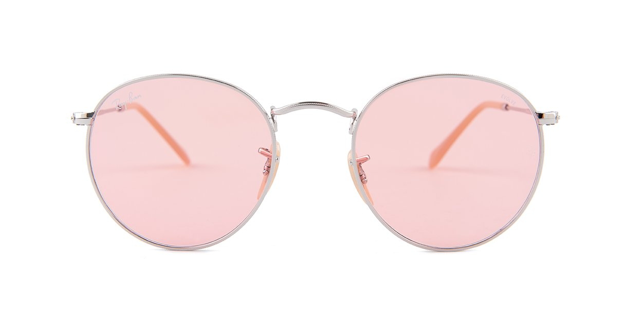 8c90859d2 Ray-Ban RB3447 Silver / Pink Lens | Ray-Ban RB3447 Round Metal ...