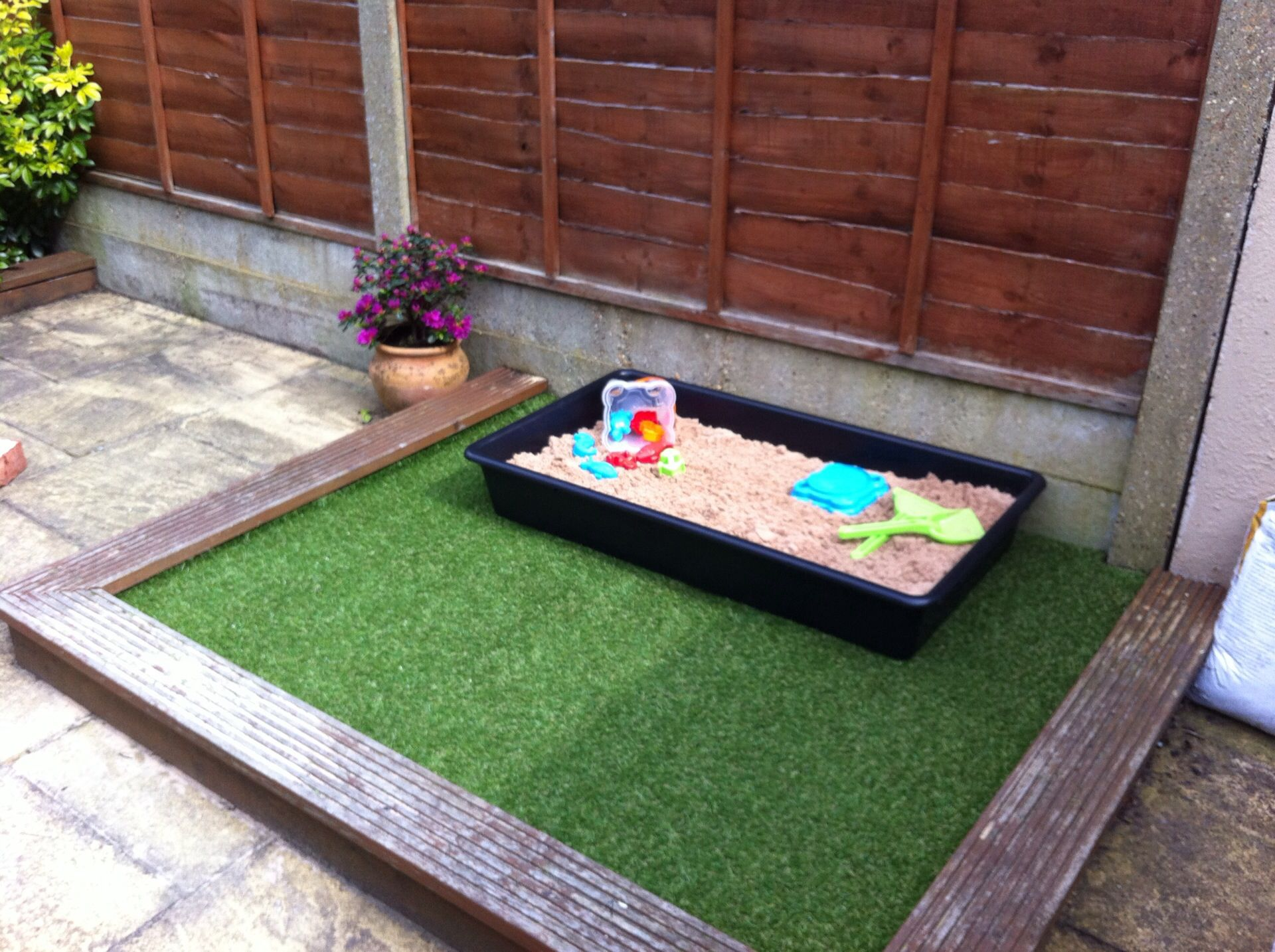 Garden Ideas For Toddlers callydoda- my new toddler garden patch, artificial grass with sand