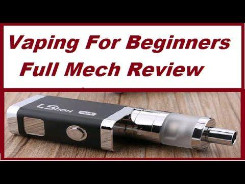 Vaping For Beginners - Full Mechanical Mod e- Cigarette Kit