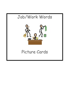 Special Education Reading:Functional Job/Work Words Picture