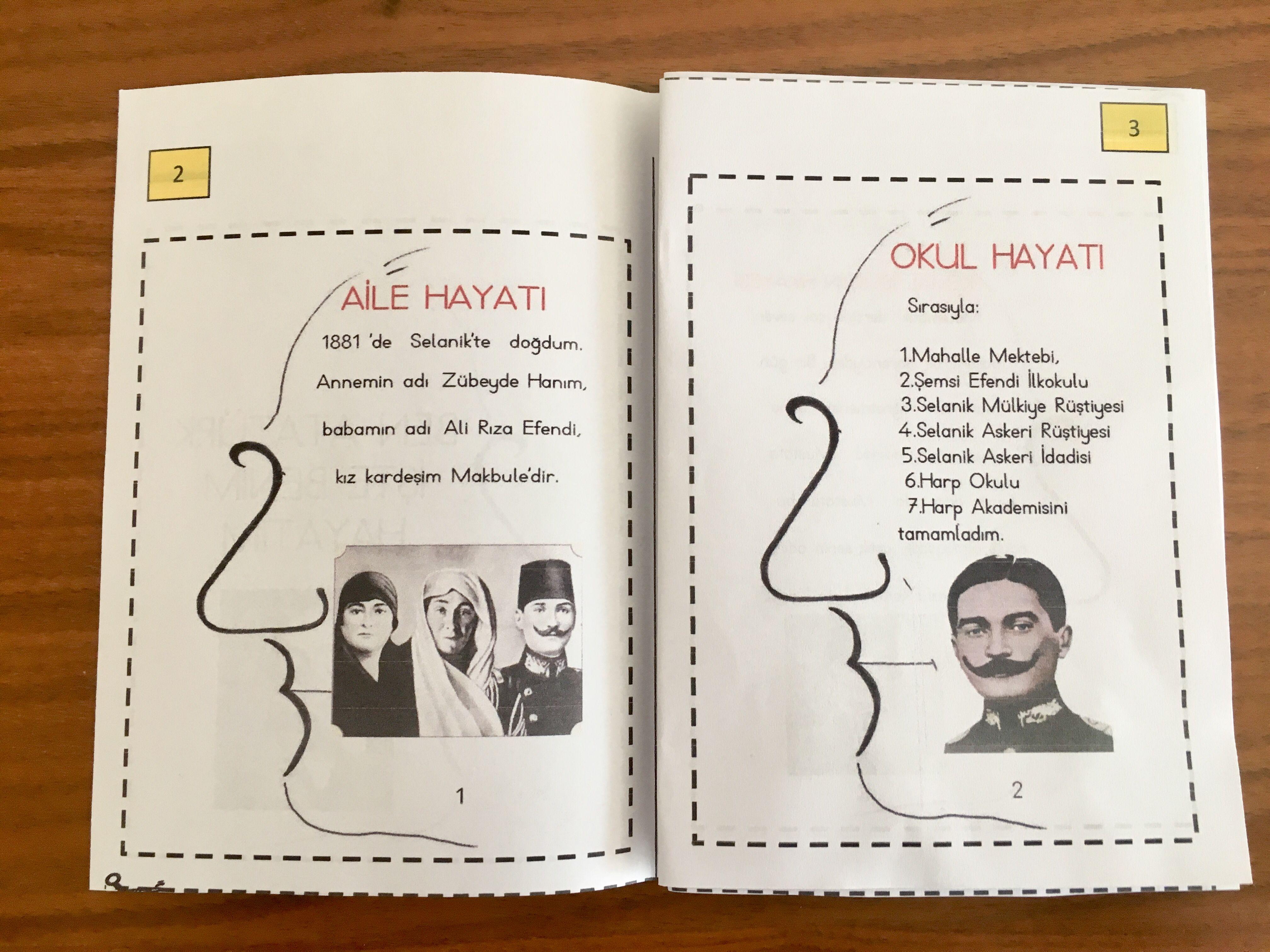 10 Kasim Ataturk Un Hayati Kitapcik Cigdem Ogretmen Ogretim Okul Okuma