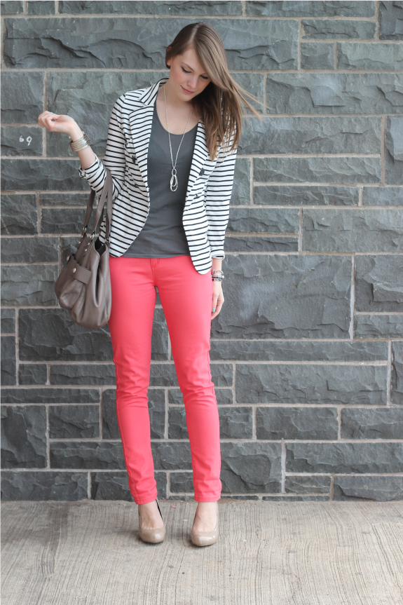 so much to lovestriped blazer pink pantsthe whole