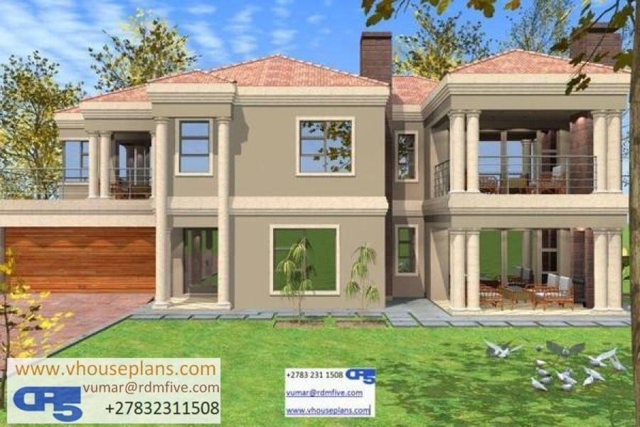 Rdm5 House Plan No W1376 Double Storey House Plans Double Story House House Plans South Africa