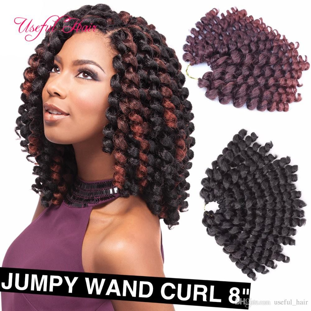 8inch 2X jamaican bounce twist hair tresse crochet braids extensions ...