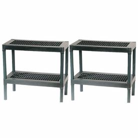 Strange Rion 2 Pack 2 Tier Plant Shelves Gardening Lowes Home Cjindustries Chair Design For Home Cjindustriesco